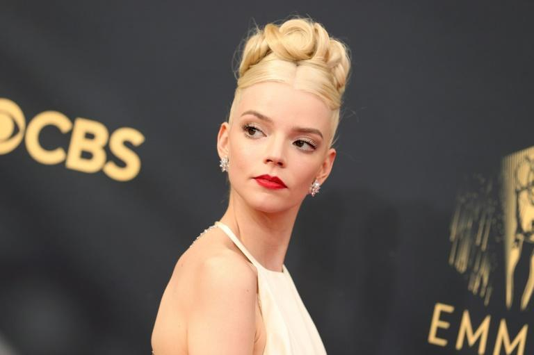 """""""The Queen's Gambit"""" starring Anya Taylor-Joy, seen here, won the Emmy for best limited series (AFP/Rich Fury)"""