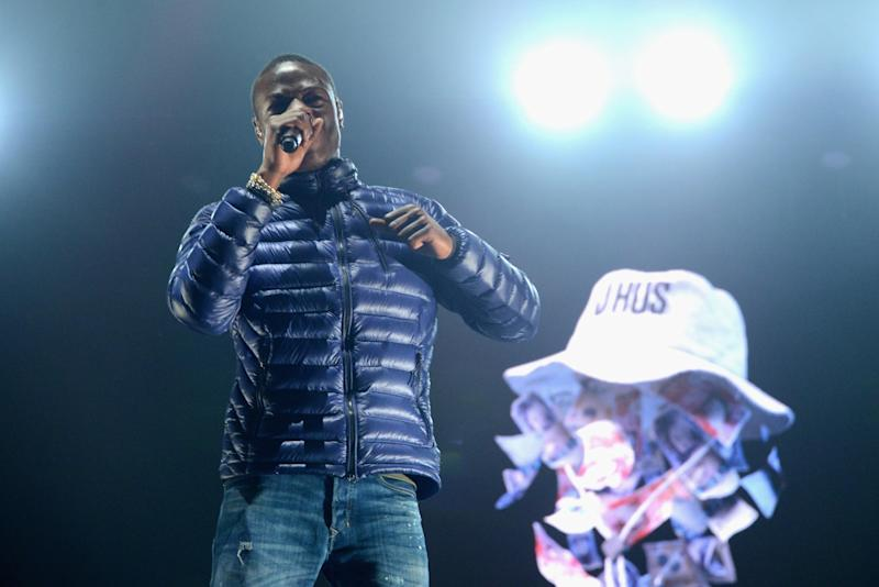J Hus features on Ed Sheeran's track Feels with American rapper Young Thug. (Getty)
