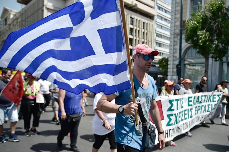 Greece has seen many demonstrations over the austerity demanded by international creditors under its huge bailout programme (AFP Photo/LOUISA GOULIAMAKI)