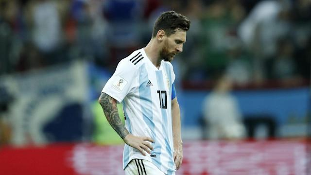 Experts on The 32 insisted Lionel Messi couldn't be ruled out in the Golden Boot race despite Argentina's struggles. (Getty)