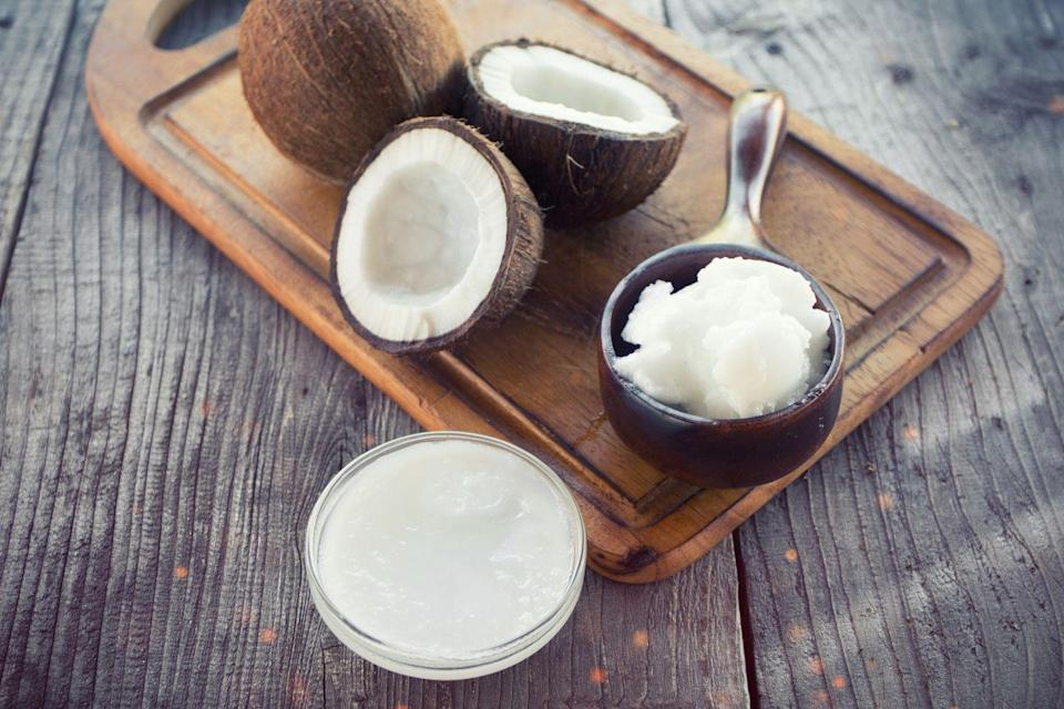 """<p>When consumed in moderation (about one to two tablespoons a day), <a href=""""https://www.prevention.com/food-nutrition/healthy-eating/a22814612/coconut-oil-healthy/"""" rel=""""nofollow noopener"""" target=""""_blank"""" data-ylk=""""slk:coconut oil"""" class=""""link rapid-noclick-resp"""">coconut oil</a> can be good for your heart. The saturated fats in coconut oil are different from the ones in animal sources and have been shown to have some health benefits. Coconut oil is also an excellent source of vitamin E, so it makes an excellent natural moisturizer. </p>"""