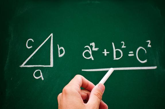 The Pythagorean Theorem is credited to the the Greek mathematician Pythagoras, who lived in the sixth century B.C.