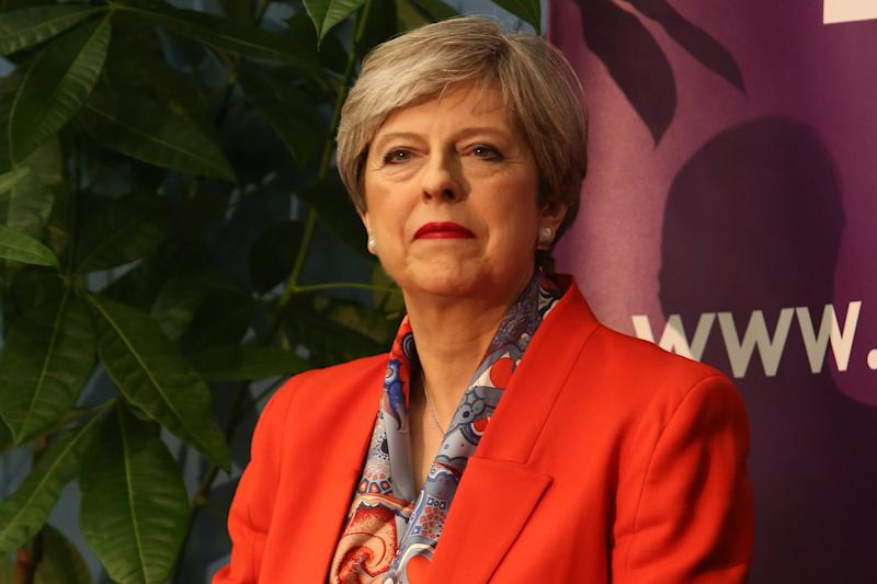 British Prime Minister Theresa May waits for the results to be declared at the count centre in Maidenhead early in the morning of June 9, 2017, hours after the polls closed in Britain's general election. Prime Minister Theresa May is poised to win Britain's snap election but lose her parliamentary majority, a shock exit poll suggested on June 8, in what would be a major blow for her leadership as Brexit talks loom. The Conservatives were set to win 314 seats, followed by Labour on 266, the Scottish National Party on 34 and the Liberal Democrats on 14, the poll for the BBC, Sky and ITV showed. / AFP PHOTO / Geoff CADDICK (Photo credit should read GEOFF CADDICK/AFP via Getty Images)