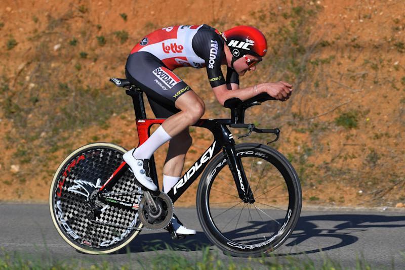 LAGOA PORTUGAL FEBRUARY 23 Tim Wellens of Belgium and Team Lotto Soudal during the 46th Volta ao Algarve 2020 Stage 5 a 203km Individual Time Trial stage from Lagoa to Lagoa ITT VAlgarve2020 on February 23 2020 in Lagoa Portugal Photo by Tim de WaeleGetty Images