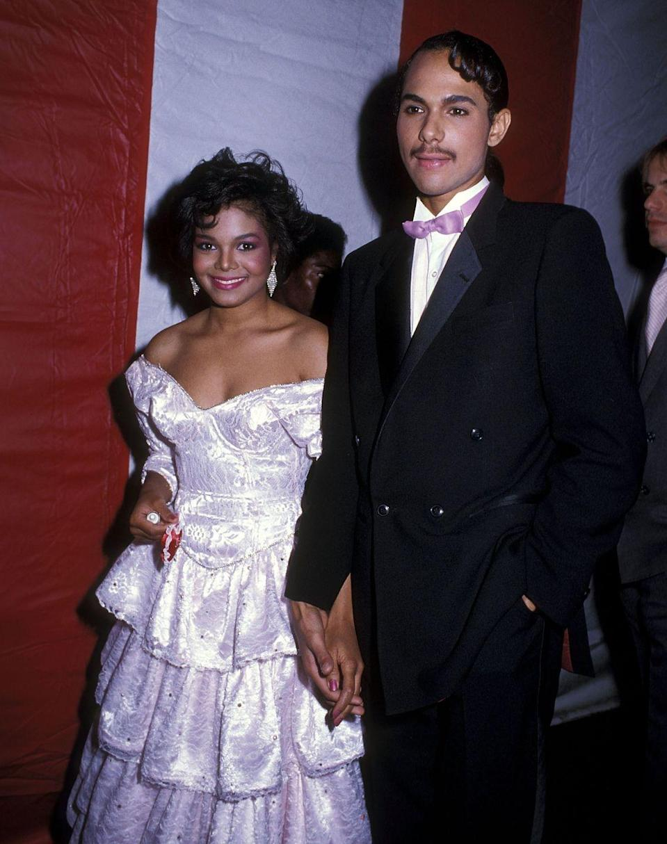 "<p>Singer Janet Jackson <a href=""http://www.etonline.com/news/202631_janet_jackson_ex_husband_james_debarge_claims_the_two_have_a_secret_daughter_together"" rel=""nofollow noopener"" target=""_blank"" data-ylk=""slk:eloped"" class=""link rapid-noclick-resp"">eloped</a> with childhood friend and R&B singer James DeBarge in 1984, but the marriage was annulled in 1985. Since they parted ways, DeBarge has claimed that he and Jackson have a secret daughter together. </p>"