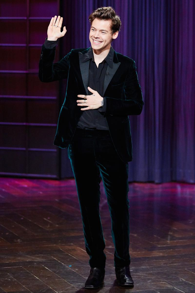 Appearing on The Late Late Show with James Corden in Los Angeles.