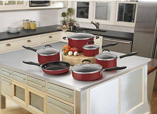 """<p><strong>Cuisinart</strong></p><p>amazon.com</p><p><strong>$99.95</strong></p><p><a href=""""https://www.amazon.com/dp/B005H05TF4?tag=syn-yahoo-20&ascsubtag=%5Bartid%7C1782.g.34057925%5Bsrc%7Cyahoo-us"""" rel=""""nofollow noopener"""" target=""""_blank"""" data-ylk=""""slk:BUY NOW"""" class=""""link rapid-noclick-resp"""">BUY NOW</a></p><p>Anyone who is just getting their footing in the kitchen will find a lot to love about Cuisinart's cookware set. With skillets, sauce pans, and large pots, this non-stick bundle is fully equipped to take on any recipe. </p>"""