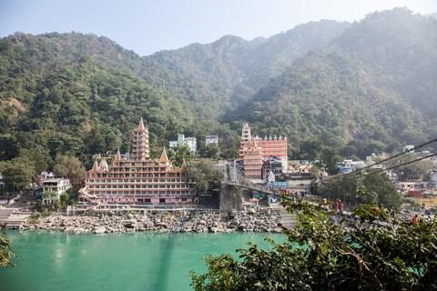 Rishikesh today bustles with Westerners - Credit: getty