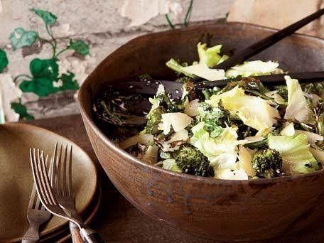 """<strong>Get the <a href=""""http://www.huffingtonpost.com/2011/10/27/escarole-and-roasted-broc_n_1058378.html"""" rel=""""nofollow noopener"""" target=""""_blank"""" data-ylk=""""slk:Escarole and Roasted Broccoli Salad with Anchovy Dressing"""" class=""""link rapid-noclick-resp"""">Escarole and Roasted Broccoli Salad with Anchovy Dressing</a> recipe</strong>"""