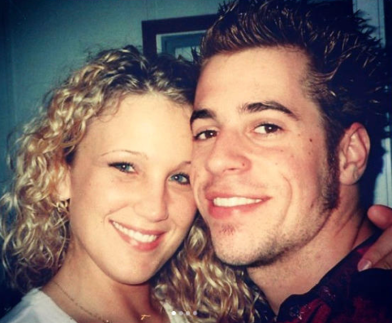 Deanna and Chris Daughtry in 2000