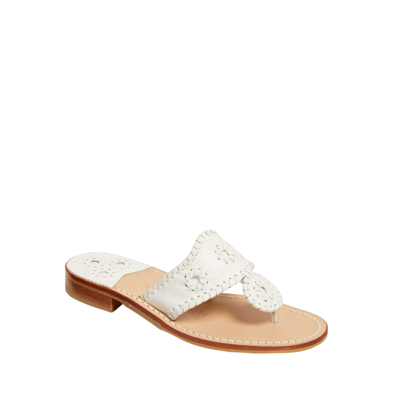 """<p><strong>Jack Rogers</strong></p><p>jackrogersusa.com</p><p><strong>$128.00</strong></p><p><a href=""""https://go.redirectingat.com?id=74968X1596630&url=https%3A%2F%2Fwww.jackrogersusa.com%2Fproducts%2Fjacks-flat-sandal-white&sref=https%3A%2F%2Fwww.townandcountrymag.com%2Fstyle%2Ffashion-trends%2Fg36384322%2Fbest-sandals-for-women%2F"""" rel=""""nofollow noopener"""" target=""""_blank"""" data-ylk=""""slk:Shop Now"""" class=""""link rapid-noclick-resp"""">Shop Now</a></p><p>Need proof of these sandals timeless preppy cred? They were some of <a href=""""https://www.townandcountrymag.com/style/fashion-trends/g9947418/10-brands-jackie-kennedy-loved/"""" rel=""""nofollow noopener"""" target=""""_blank"""" data-ylk=""""slk:Jackie Kennedy's summertime go-tos"""" class=""""link rapid-noclick-resp"""">Jackie Kennedy's summertime go-tos</a>. </p>"""