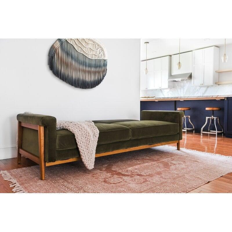 <p>This <span>Mitchell Sleeper Sofa</span> ($1,350, originally $$1,461) will be the primary napping station.</p>