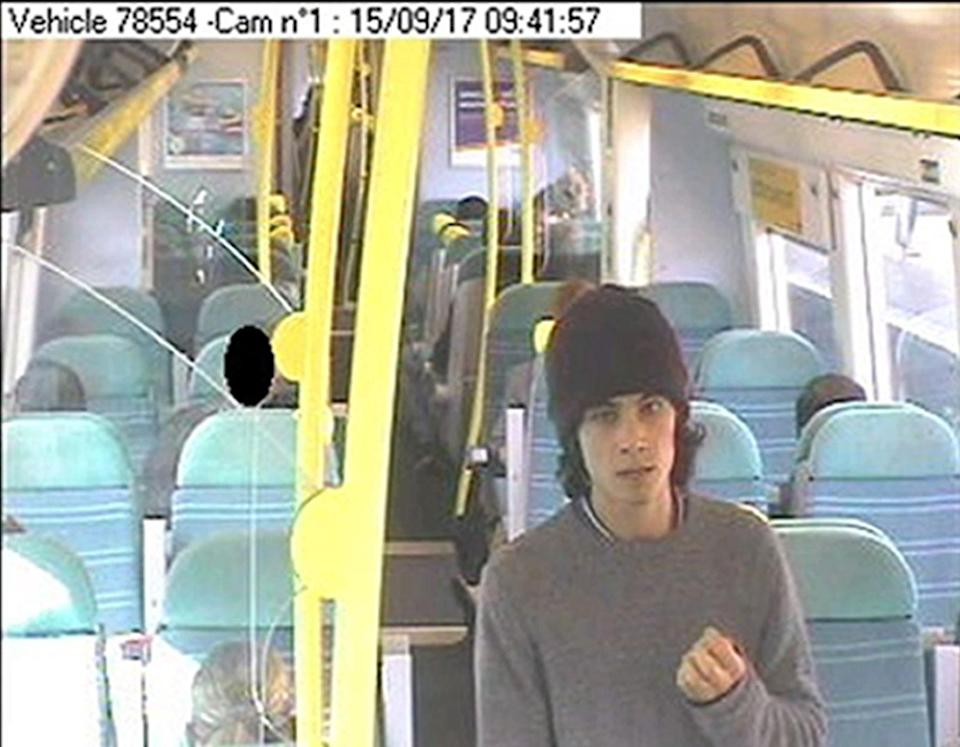 Hassan boarded a London to Brighton train as he fled after the bombing (Metropolitan Police)