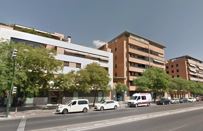 The incident took place at an apartment block in Periodista Quesada Chacon Street, Cordoba. (Google Street View)