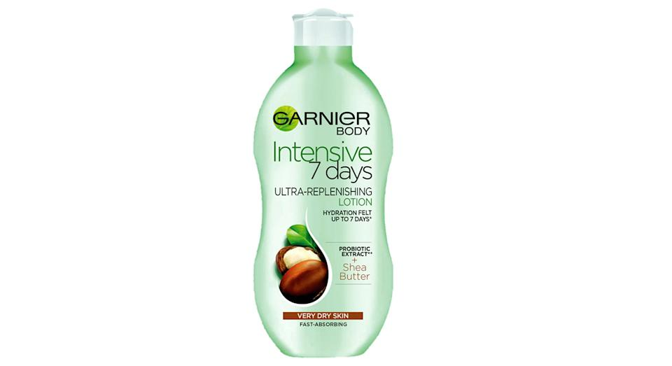Garnier Intensive 7 Days Shea Butter Probiotic Extract Body Lotion Dry Skin