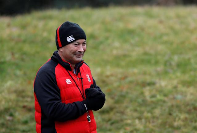 Rugby Union - England Training - Pennyhill Park, Bagshot, Britain - February 20, 2018 England head coach Eddie Jones during training Action Images via Reuters/Paul Childs