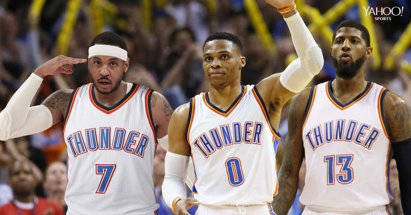 30c1c85d048 NBA Twitter goes wild after Carmelo Anthony gets traded to the Thunder