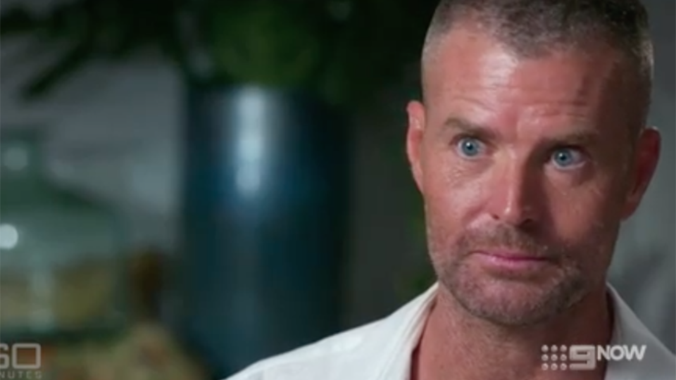 Pete Evans looks alarmed on Nine. Channel 10, pan Macmillan dump Evans