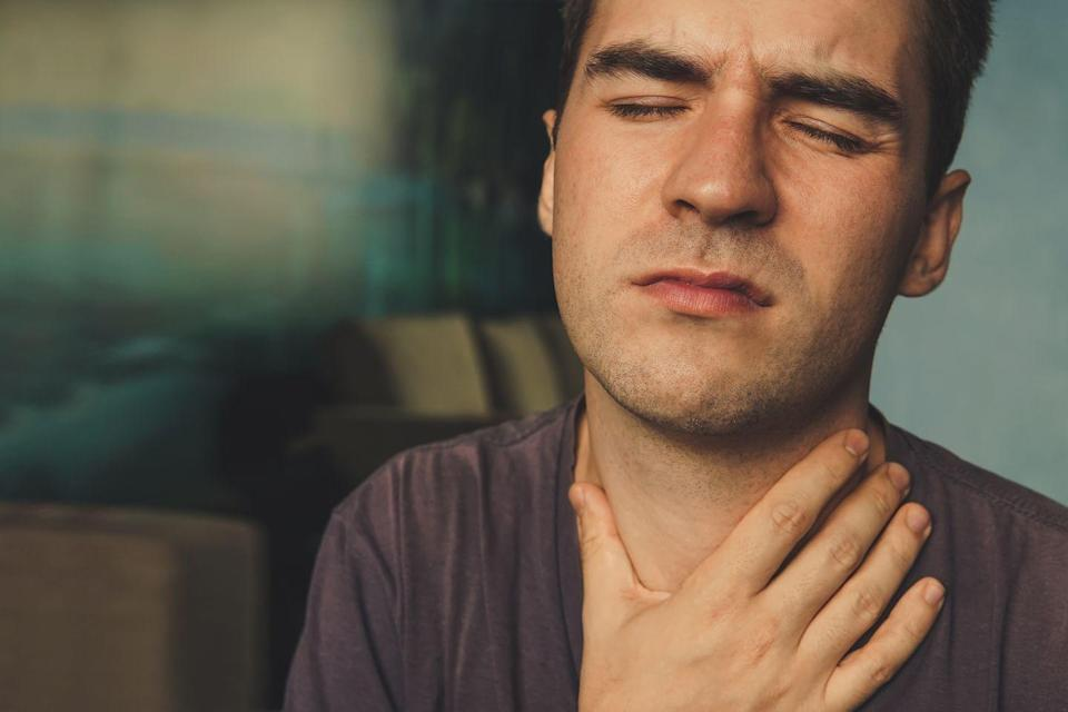 """<p>If you're hot and sweaty and you straight-up cannot stand the heat, you may have an overactive thyroid, a.k.a. hyperthyroidism. """"One of the most common symptoms of hyperthyroidism is heat intolerance,"""" says Jonathan Arend, M.D., an internist at The Mount Sinai Hospital in New York. """"Your thyroid, which regulates metabolism, is overactive and churning through your body's machinery, running on overdrive like an overheating machine."""" </p><p>Higher levels of thyroid hormones mean increased energy production, higher body temperature, and lots of sweat, adds David Weissman, M.D., a primary care physician who sees patients via telehealth app <a href=""""https://livehealthonline.com/"""" rel=""""nofollow noopener"""" target=""""_blank"""" data-ylk=""""slk:LiveHealth Online"""" class=""""link rapid-noclick-resp"""">LiveHealth Online</a>. Other signs of an overactive thyroid? Rapid heart rate, irregular heart rhythm, elevated blood pressure, and unexplained weight loss, says Weissman. </p><p>The good news: Hyperthyroidism is easy to diagnose and treat with medication, says Weissman.</p>"""