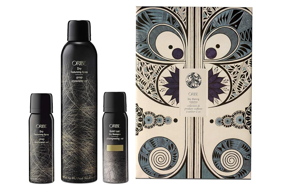 "<br><br><strong>Oribe</strong> Dry Styling Collection, $, available at <a href=""https://amzn.to/3skchR0"" rel=""nofollow noopener"" target=""_blank"" data-ylk=""slk:Amazon"" class=""link rapid-noclick-resp"">Amazon</a>"