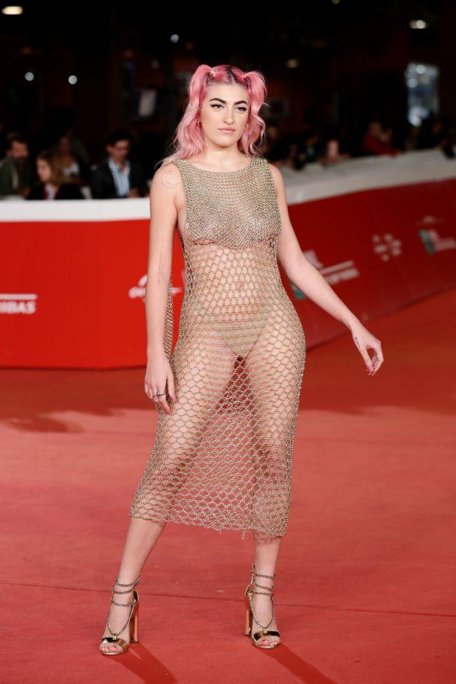 The naked dress, worn by Italian singer Roshelle, reached new heights in 2019. Photo: Getty Images