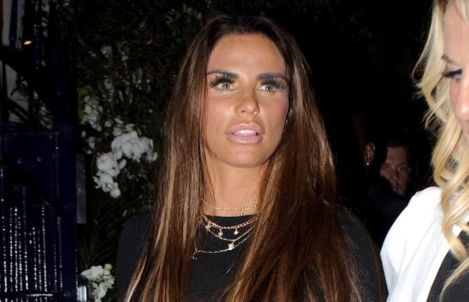 Katie Price has denied claims she faked breaking her feet. (AP)
