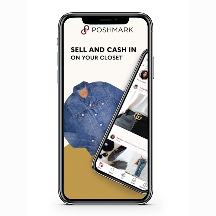 """<p><a href=""""https://poshmark.com/getapp"""" rel=""""nofollow noopener"""" target=""""_blank"""" data-ylk=""""slk:Poshmark"""" class=""""link rapid-noclick-resp"""">Poshmark</a> is a site where you can buy and sell clothing, accessories, and home items that are in good condition. So clean out your closet (and the kids' closets, too - you can sell the clothes they've already outgrown) and make some easy money. Listing an item takes very little time, and you get to set the prices.</p>"""