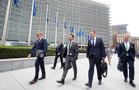 Representatives of Russia, Ukraine and the European Union meet for the gas talks, at the EU Commission headquarters in Brussels