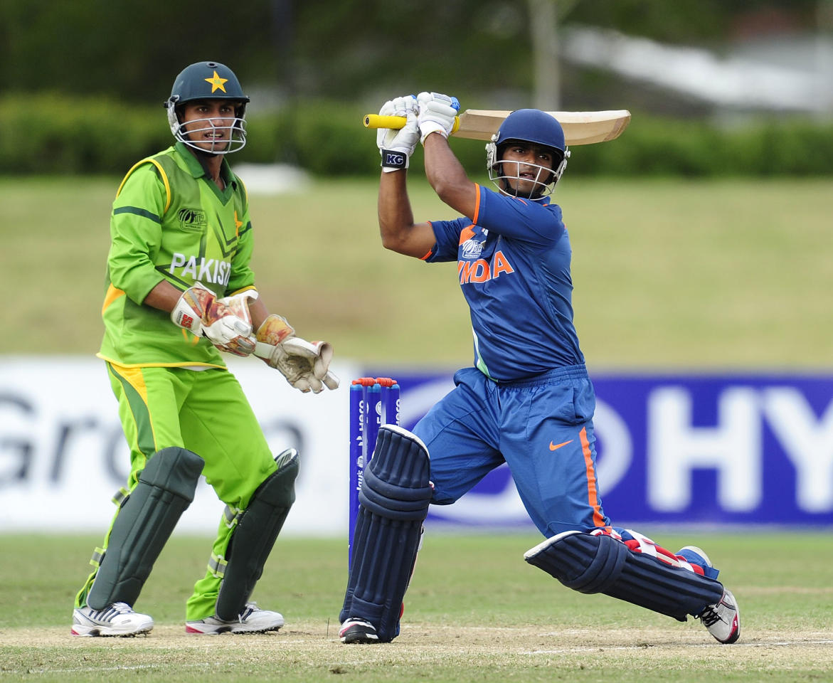 TOWNSVILLE, AUSTRALIA - AUGUST 20:  Vijay Zol of India bats during the ICC U19 Cricket World Cup 2012 Quarter Final match between India and Pakistan at Tony Ireland Stadium on August 20, 2012 in Townsville, Australia.  (Photo by Ian Hitchcock-ICC/Getty Images)