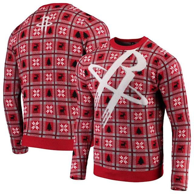 Rockets Big Logo Ugly Sweater