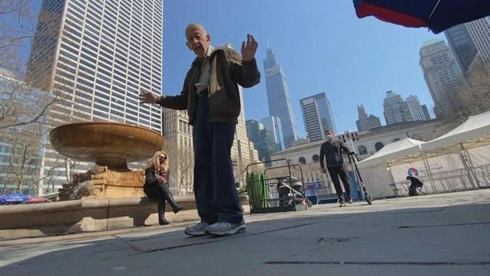 Eighty-nine-year-old New Yorker Bob Holzman is ready for dance parties to come back to Bryant Park.