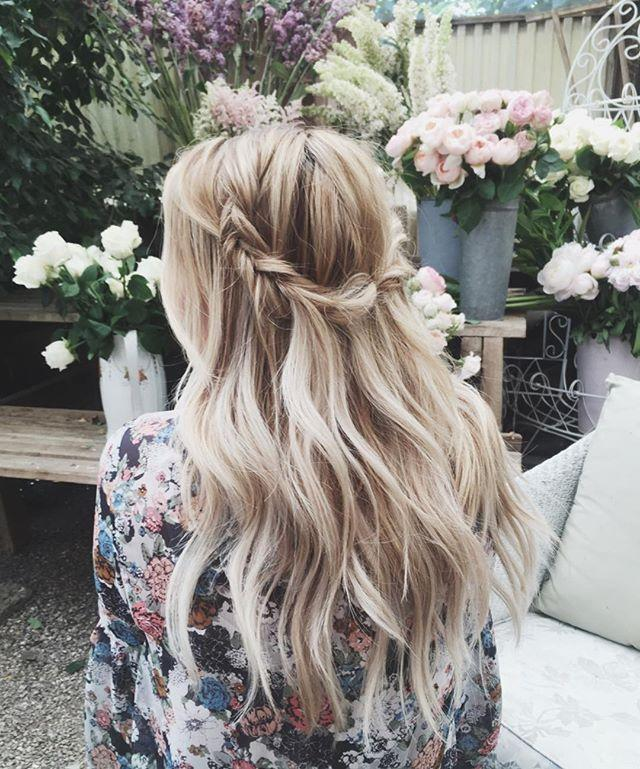 <p>We like to imagine that this is how Lauren Conrad 's hair always looks: perfectly rumpled and whipped into some kind of whimsical braid.</p>