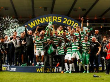 Celtic's dominance of Scottish football continued as they completed a treble of domestic trophies for the second consecutive season with a 2-0 victory over Motherwell in the Scottish Cup final on Saturday.
