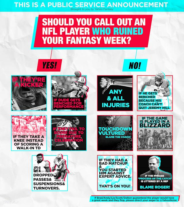 Fantasy Football social PSA