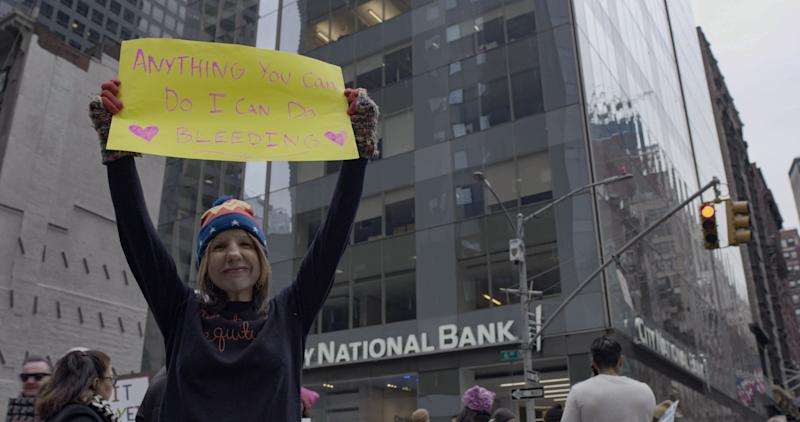 Jennifer Weiss-Wolf at the Women's March
