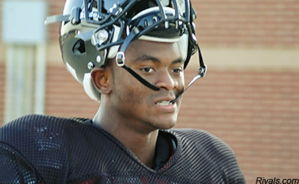 Aledo running back Johnathan Gray at practice with his helmet off