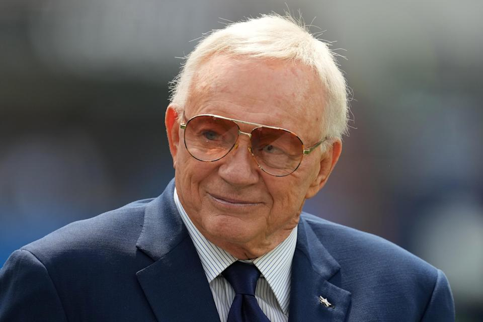 Dallas Cowboys owner Jerry Jones before the game against the Los Angeles Chargers at SoFi Stadium.