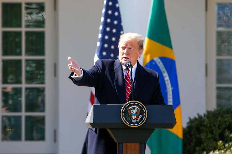 *ARQUIVO* WASHINGTON, EUA, 19.03.2019: O presidente dos Estados Unidos, Donald Trump, durante coletiva na Casa Branca, em Washington. (Foto: Vanessa Carvalho/Brazil Photo Press/Folhapress)