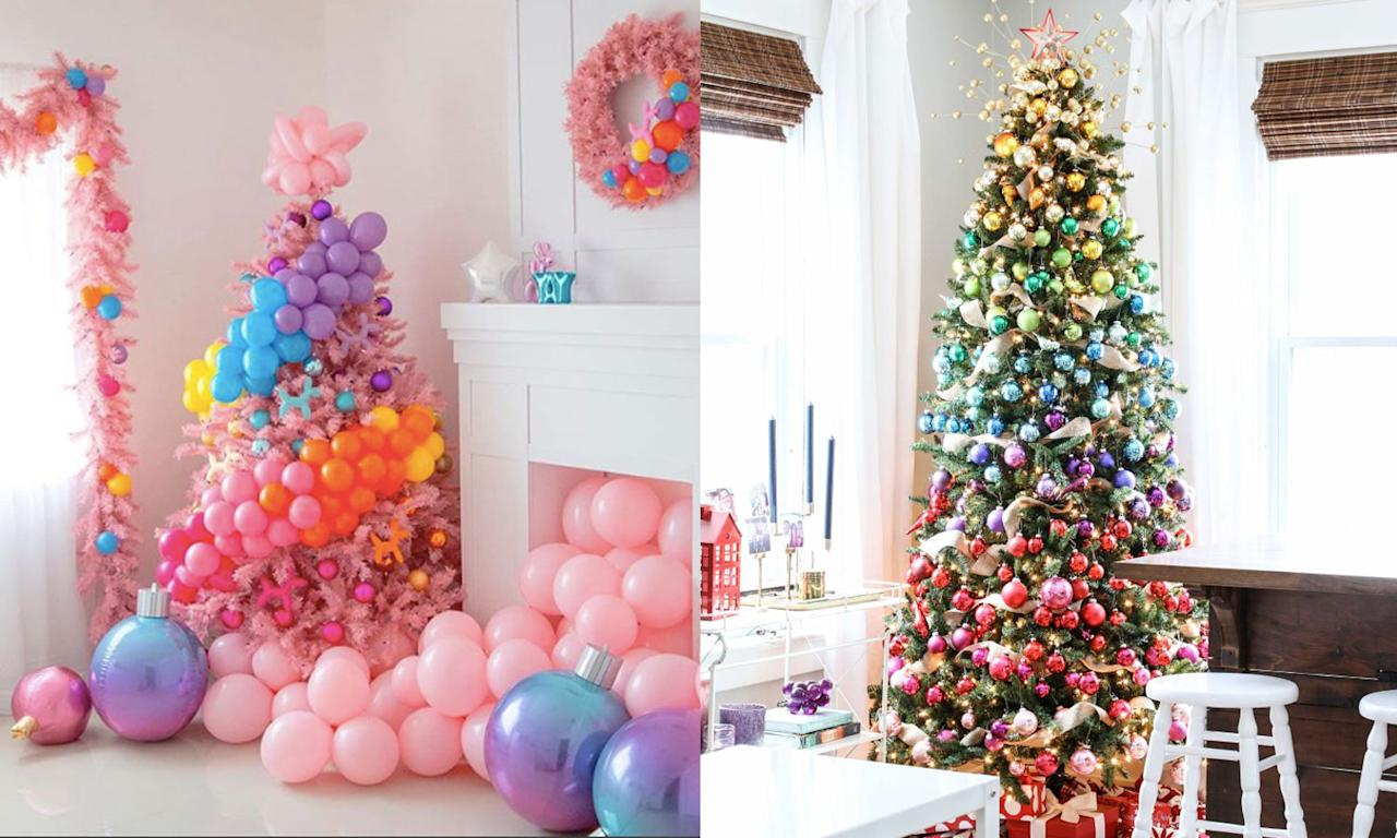 <p>Get inspired by bubble and rainbow-themed Christmas trees. (Photos courtesy of Lilly Jimenez/Michael Wurm Jr.) </p>