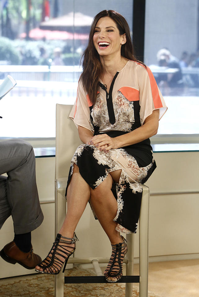 "TODAY -- Pictured: Sandra Bullock appears on NBC News' ""Today"" show -- (Photo by: Peter Kramer/NBC/NBC NewsWire)"