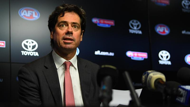 AFL CEO Gillon McLachlan has outlined plans for the season restart