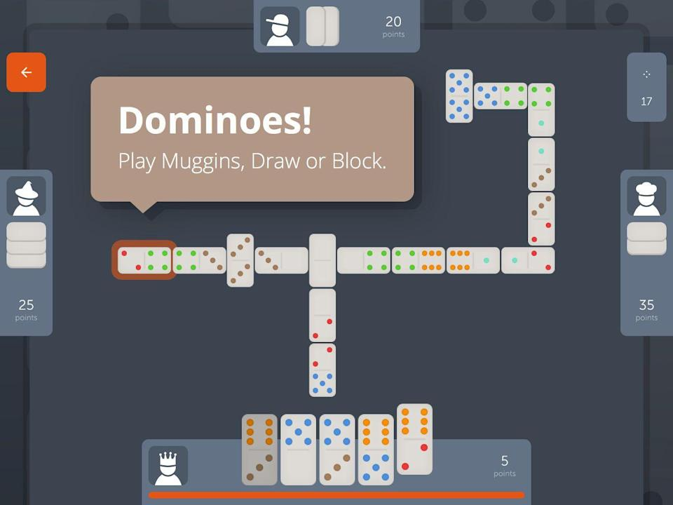 """<p>Dominoes may appear simple, but this tile-based game involves more strategizing than you would think. This game is all about scoring the most points by putting your tiles down in the most advantageous way, and the <a href=""""https://dominoes.playdrift.com/"""" rel=""""nofollow noopener"""" target=""""_blank"""" data-ylk=""""slk:online version of Dominoes"""" class=""""link rapid-noclick-resp"""">online version of Dominoes</a> allows you to play a virtual game with up to four people.</p>"""