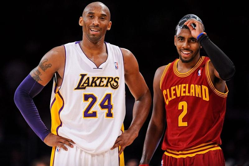 Kobe Bryant and Kyrie Irving | Noah Graham/NBAE via Getty Images