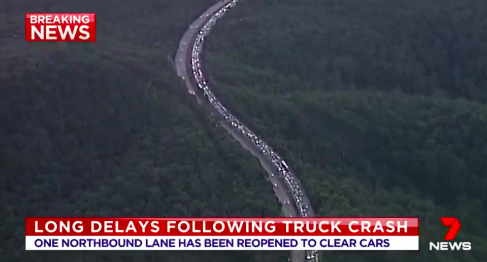 Significant delays are expected but Roads and Maritime Services are working hard to clear traffic. Source: 7 News
