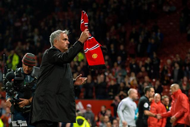 Jose Mourinho might be waving the red flag on his time with Manchester United. (The Evening Standard)
