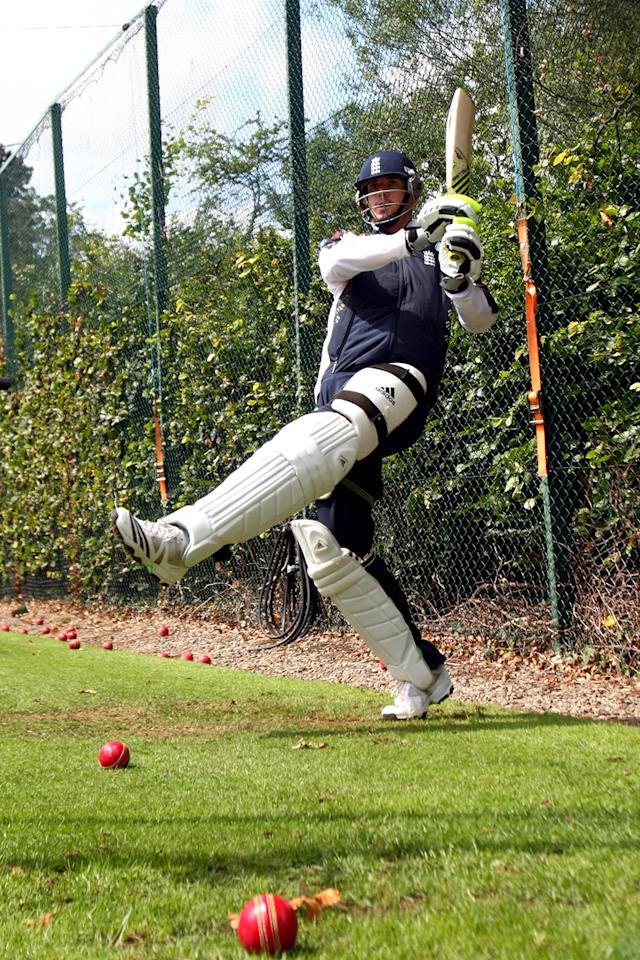 Kevin Pietersen of England in action during a nets session ahead of the first Ashes Npower Test Match at the Swalec Stadium on July 6, 2009 in Cardiff, Wales.  (Photo by Clive Rose/Getty Images) *** Local Caption *** Kevin Pietersen