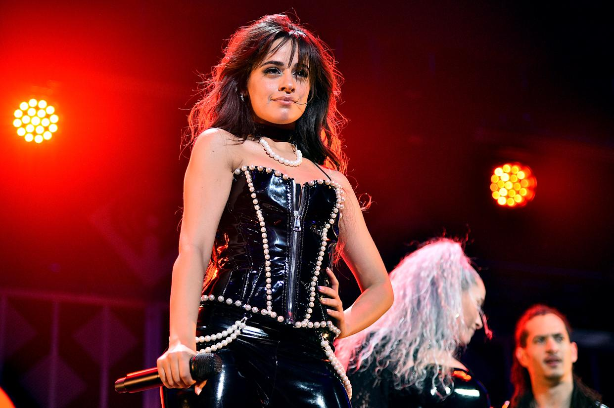 NEW YORK, NEW YORK - DECEMBER 13: Camila Cabello performs onstage during iHeartRadio's Z100 Jingle Ball 2019 Presented By Capital One on December 13, 2019 in New York City. (Photo by Theo Wargo/Getty Images for iHeartMedia )