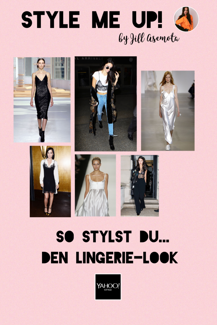 So stylst du den Lingerie-Look (Bilder: Getty Images / Polyvore)