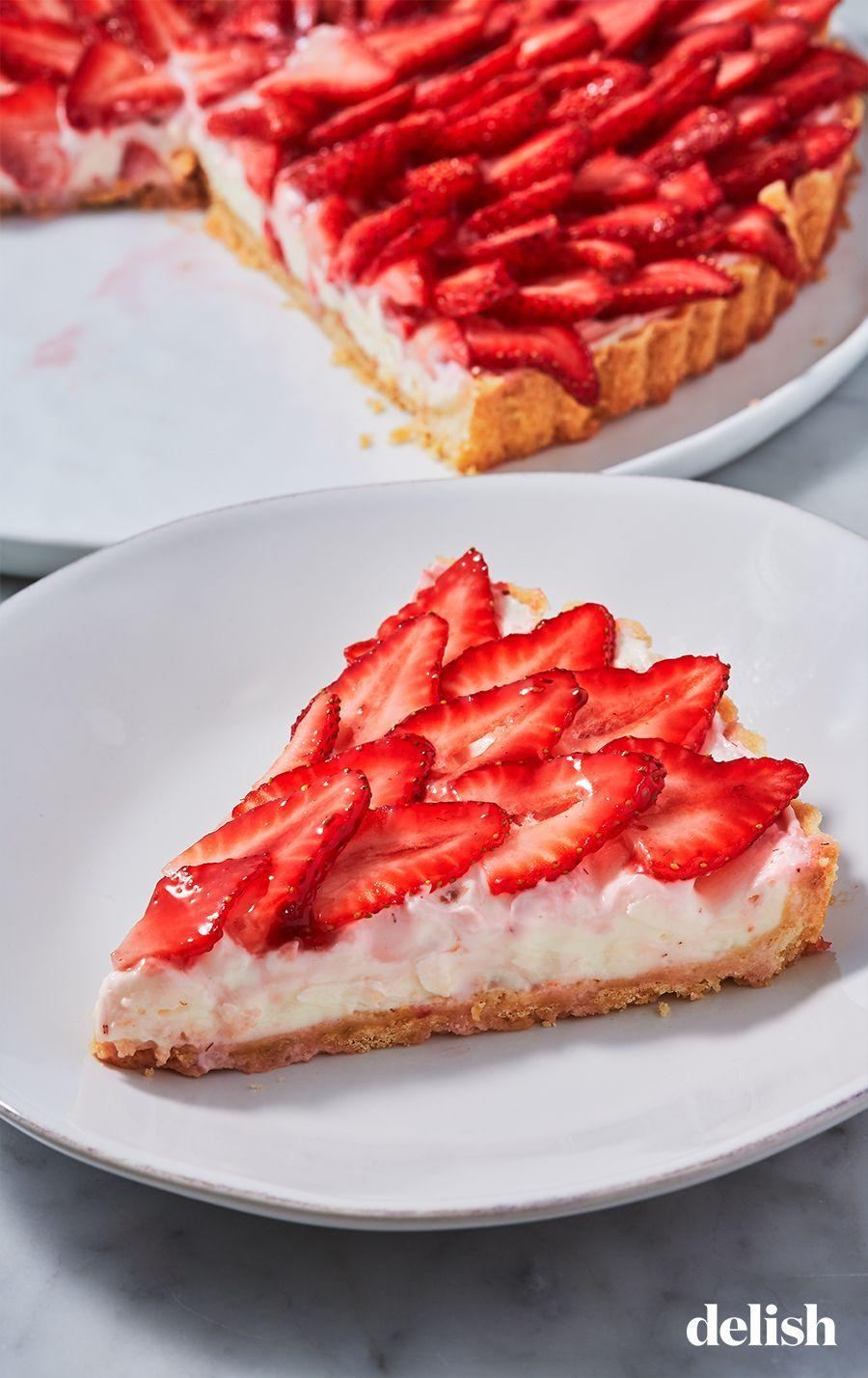 """<p>Truly a thing of beauty.</p><p>Get the recipe from <a href=""""https://www.delish.com/cooking/recipe-ideas/a26871609/strawberry-tart-recipe/"""" rel=""""nofollow noopener"""" target=""""_blank"""" data-ylk=""""slk:Delish"""" class=""""link rapid-noclick-resp"""">Delish</a>. </p>"""