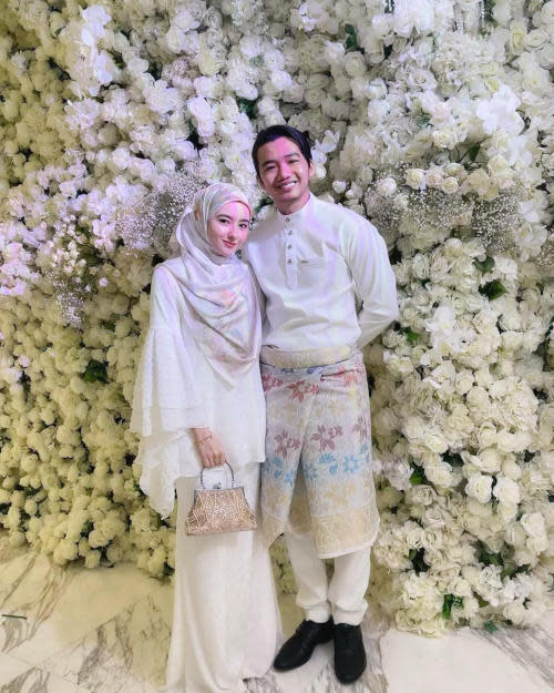 Hannah Delisha attended the event alongside her newly-wedded husband